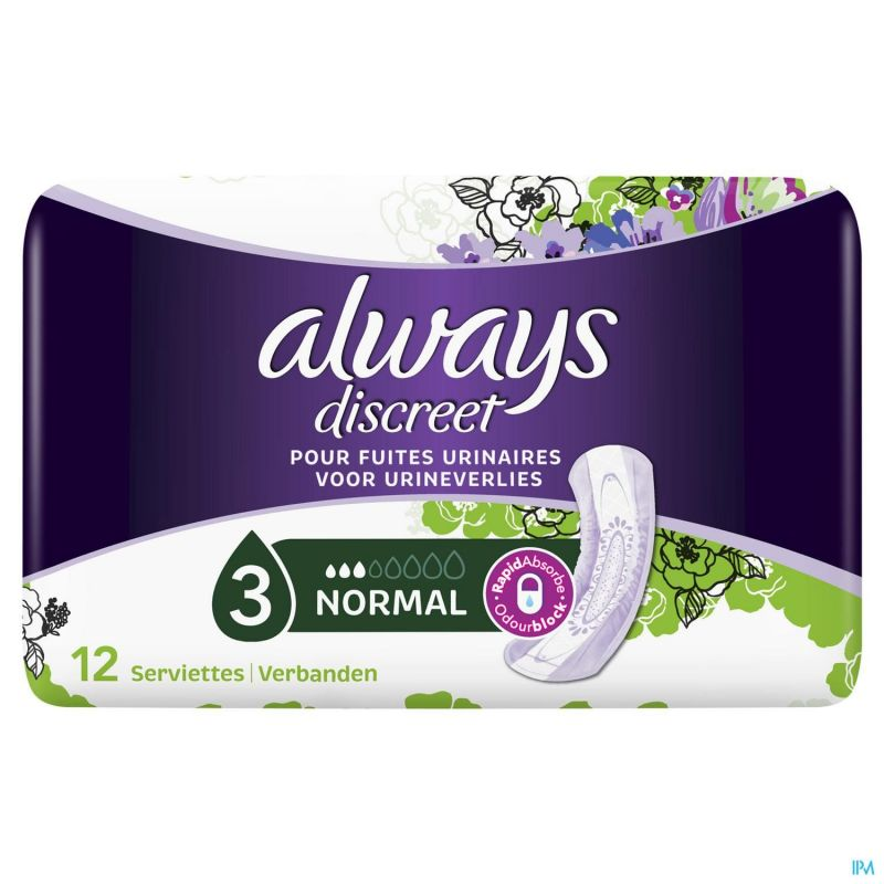 Always Discreet Inconctinence Pad Normal