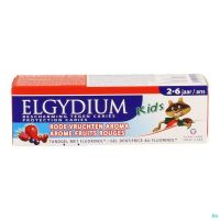 Elgydium Kids Dentifrice Fruits Rouges 2-6 Ans