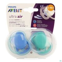 Philips Avent Sucette +6m 2 Air Boy Scf244/22