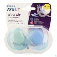Philips Avent Sucette +0m 2 Air Boy Scf244/20