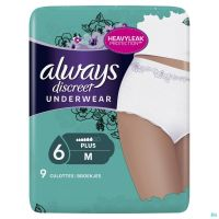 Always Discreet Incontinence Pants M 9 P