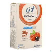 6d Sixd Energy Gel Red Fruits 6x40ml