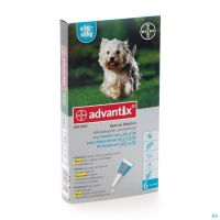 Advantix 100/ 500 Chiens 4<10kg Fl 6x1,0ml