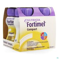 Fortimel Compact Banane 125 Ml 4 Pièces