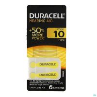 Duracell Pile Auditive Easy Tab Da10 6 P