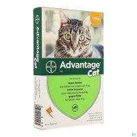 Advantage 40 Chats <4kg 4x0,4ml
