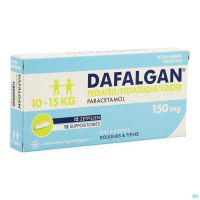 Dafalgan Pediatrique 150mg Suppo 12