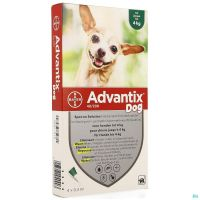 Advantix 40/ 200 Chiens < 4kg Fl 4x0,4ml