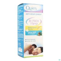 Quies Anti-Ronflement Spray Nasal + Buccal Bipack 15