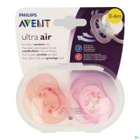 Philips Avent Sucette +0m Air Girl Deco Scf345/20