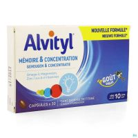 Alvityl Memoire Concentration Caps 30