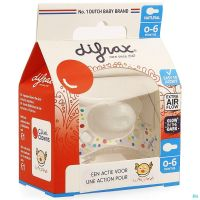 Difrax Sucette Natural 0- 6m Cliniclowns