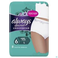Always Discreet Incontinence Pants L 8 P