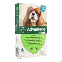 Advantage 100 Chiens 4<10kg 4x1,0ml