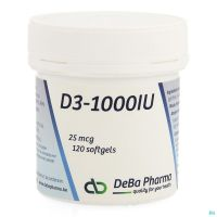 D3-1000 Deba 120 Softgels 25 Mcg