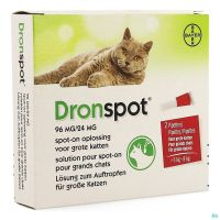 Dronspot 96mg/24mg Spot-on Grand Chat 5-8kg  2 Pipettes