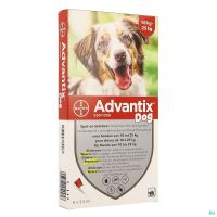 Advantix 250/1250 Chiens 10<25kg Fl 6x2,5ml