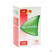 Nicorette Chewing-gum Fruit 150 Comprimés 4 Mg
