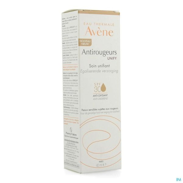 Avene Antirougeur Unify Ip30 Creme Teinte 40ml