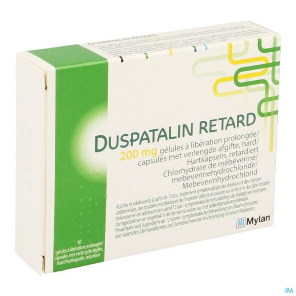 Duspatalin Retard 30 Gélules 200 Mg