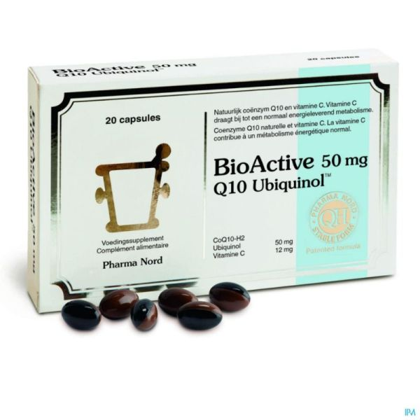 Bioactive Q10 20 Gélules 50 Mg