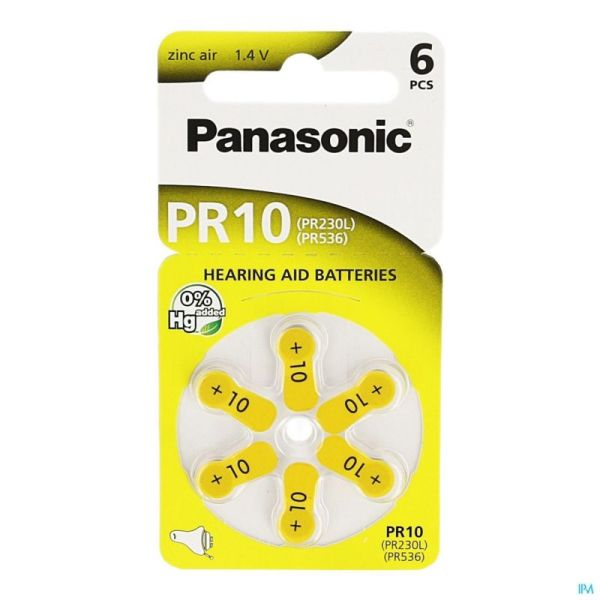 Panasonic Pr10 Jaune 1x6 Batteries