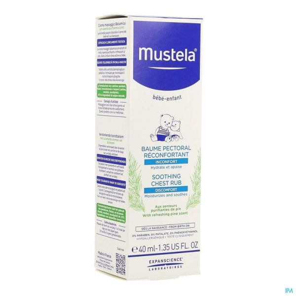 Mustela Baume Pectoral Reconfortant 40 Ml