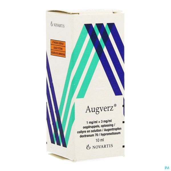 Augverz 1mg/ml + 3mg/ml Collyre Sol 1 X 10ml