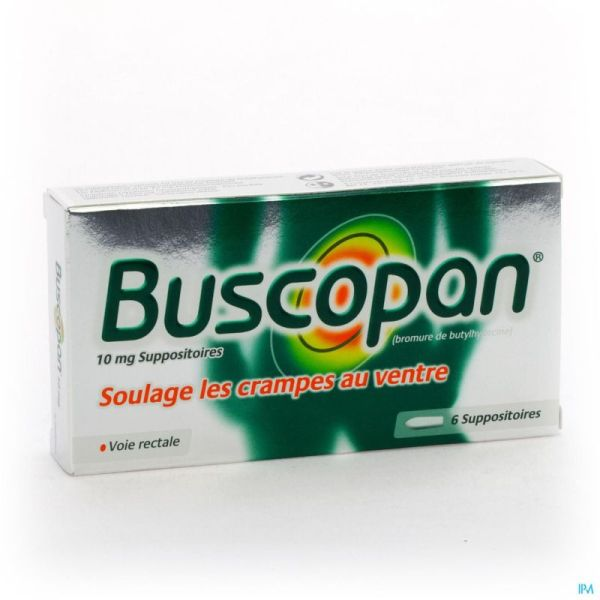 Buscopan 6 Suppositoires 10 Mg