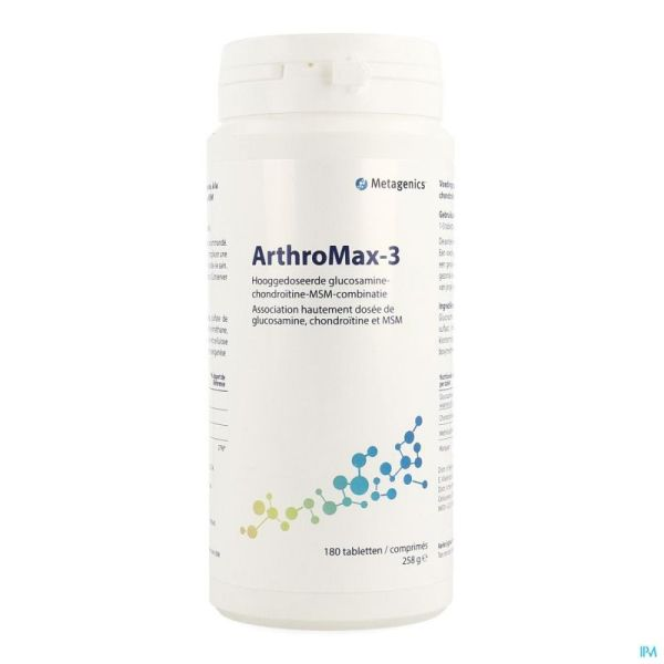 Arthromax 3 Metagenics 180 Comprimés