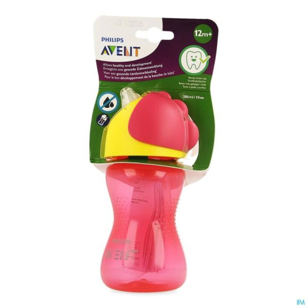 Philips Avent Gobelet Paille Girl Rose 300ml