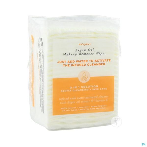Adephar Make-up Remover Wipes 2en1 Argan 40