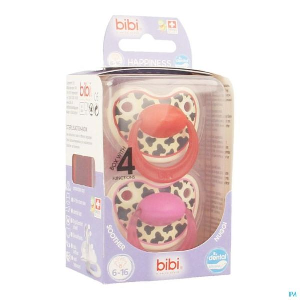 Bibi happiness sucette tiger 6-16m duo
