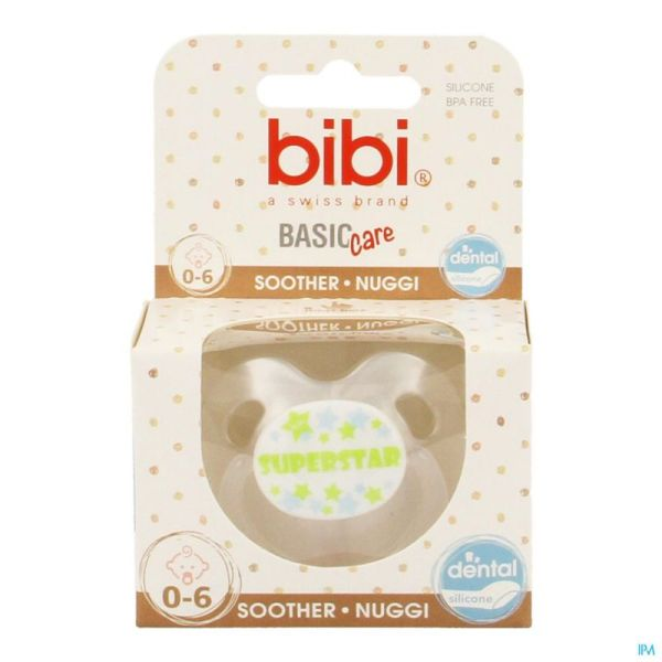 Bibi Tétine Superstar Wit Bc 0-6m
