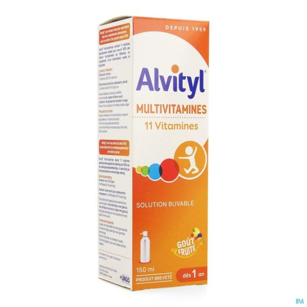 Alvityl Multivitamines Sirop 150 Ml